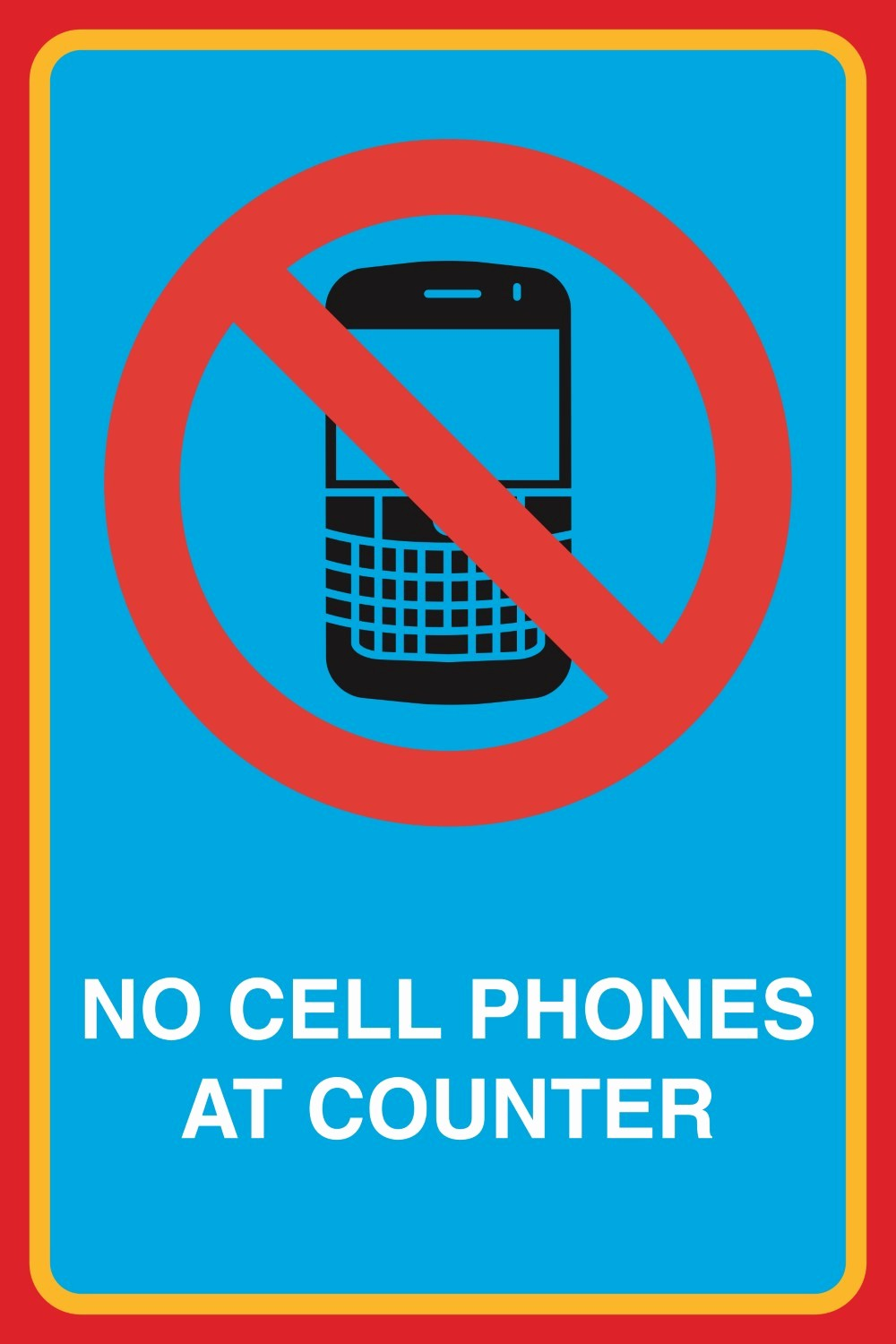 No Cell Phones Sign Printable Best Of No Cell Phones at Counter Print Picture Notice Business