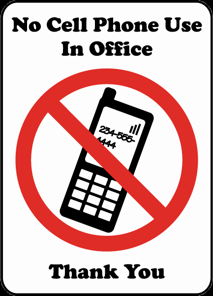 No Cell Phones Sign Printable Elegant No Cell Phone Use Fice Sign by Safetysign F7218