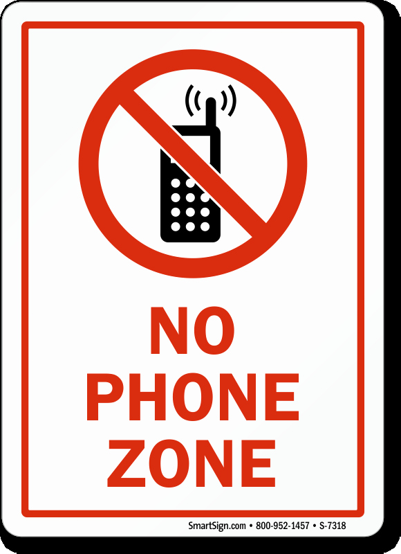 No Cell Phones Sign Printable Elegant No Phone Zone with Graphic Sign No Cell Phone Sign