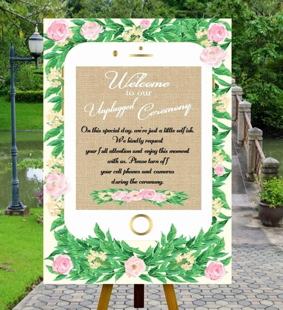 No Cell Phones Sign Printable Fresh Printable Unplugged Wedding Sign Unplugged Ceremony Sign