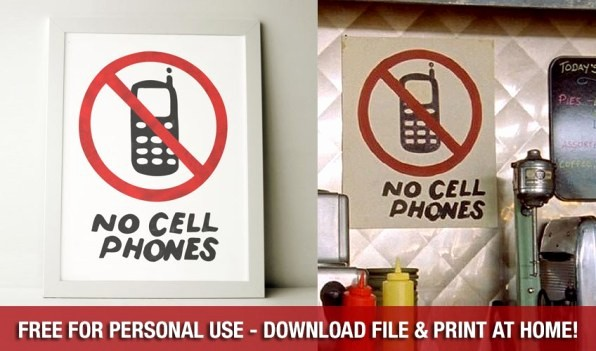 No Cell Phones Sign Printable Inspirational attention Gilmore Girls Fans Make Your Kitchen Look Like