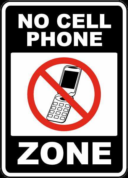 No Cell Phones Sign Printable Inspirational No Cell Phone Zone Sign by Safetysign F7204