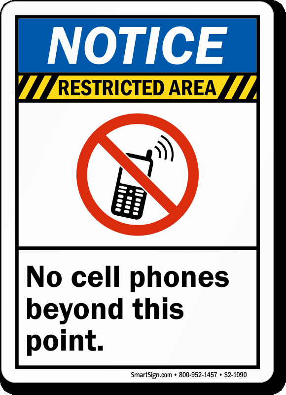 No Cell Phones Sign Printable Lovely No Cameras Allowed Signs