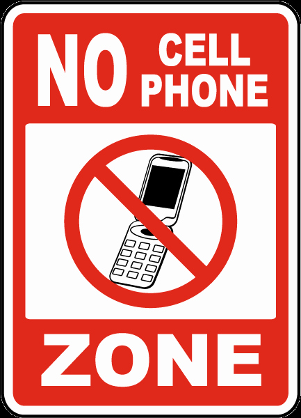 No Cell Phones Sign Printable Luxury No Cell Phone Zone Sign by Safetysign F7202