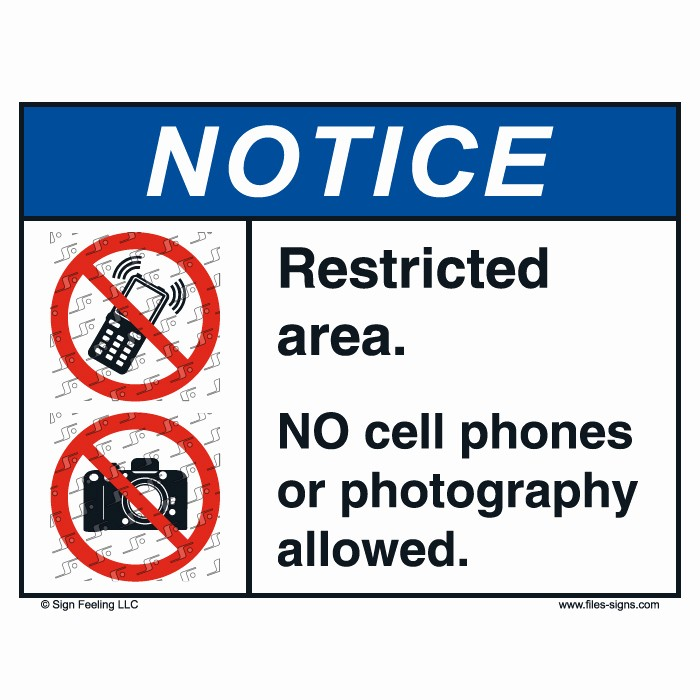 No Cell Phones Sign Printable New Printable Signs No Cell Phones