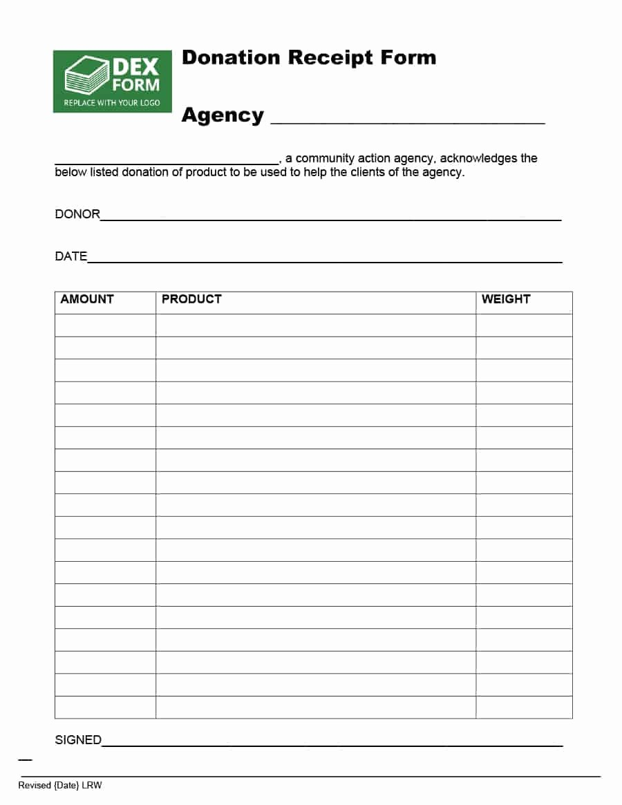 Non Profit Donation form Template Awesome 40 Donation Receipt Templates & Letters [goodwill Non Profit]