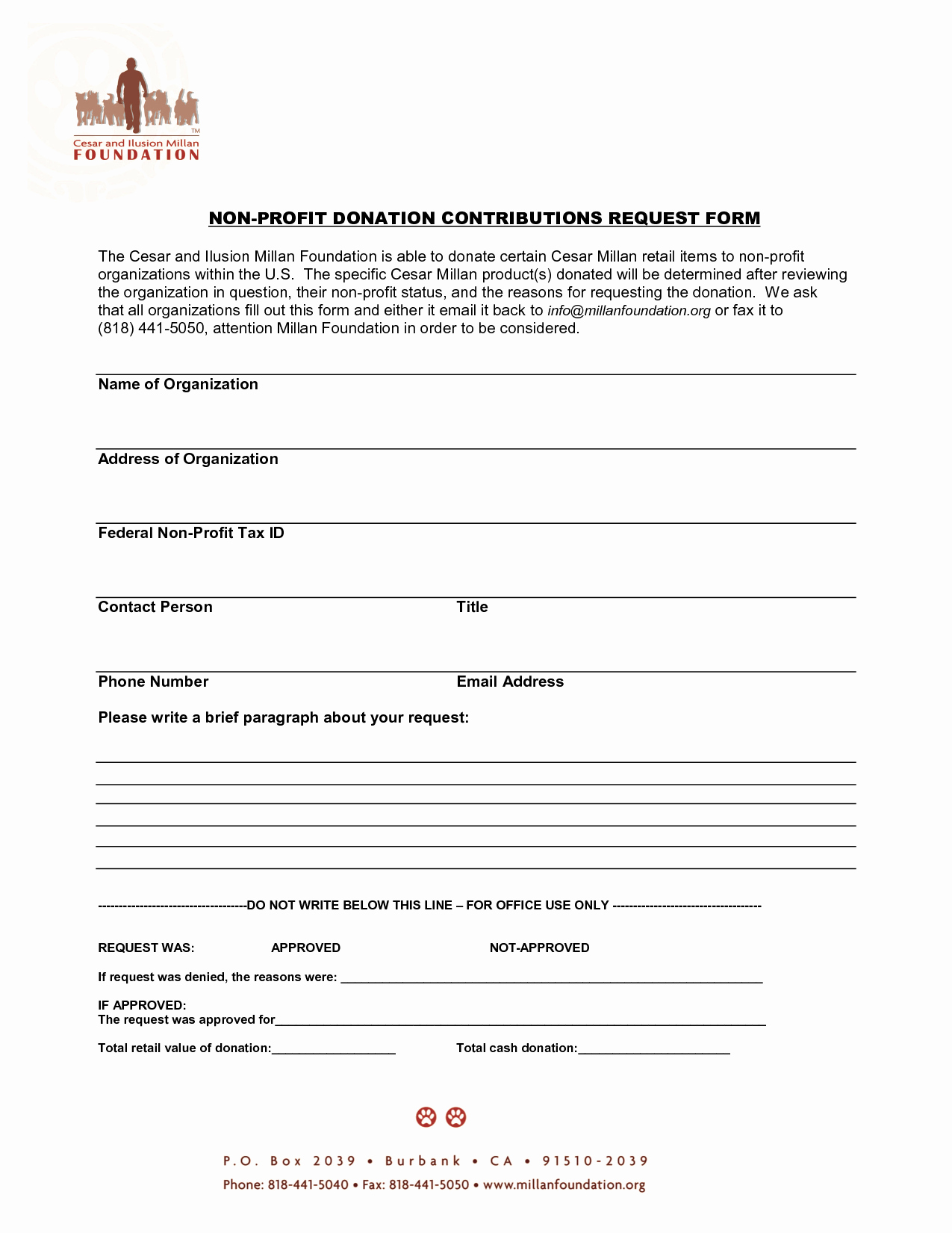 Non Profit Donation form Template Best Of 10 Best Of Non Profit Donation Receipt form Non