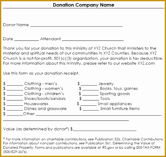 Non Profit Donation form Template Best Of 5 Nonprofit Contribution Receipt Template