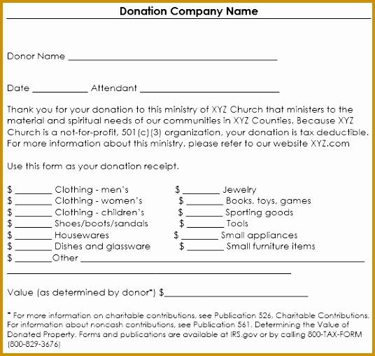 Non Profit Donation form Template Best Of 5 Nonprofit Contribution Receipt Template