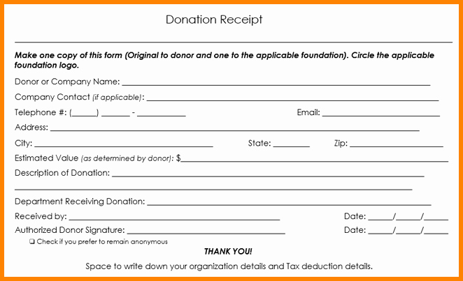 Non Profit Donation form Template Best Of 9 Non Profit Donation Receipt Template