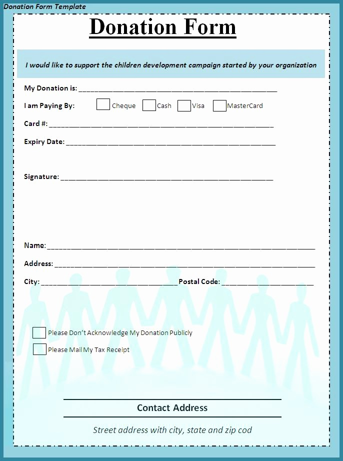 Non Profit Donation form Template Best Of Donation form Template Free formats Excel Word