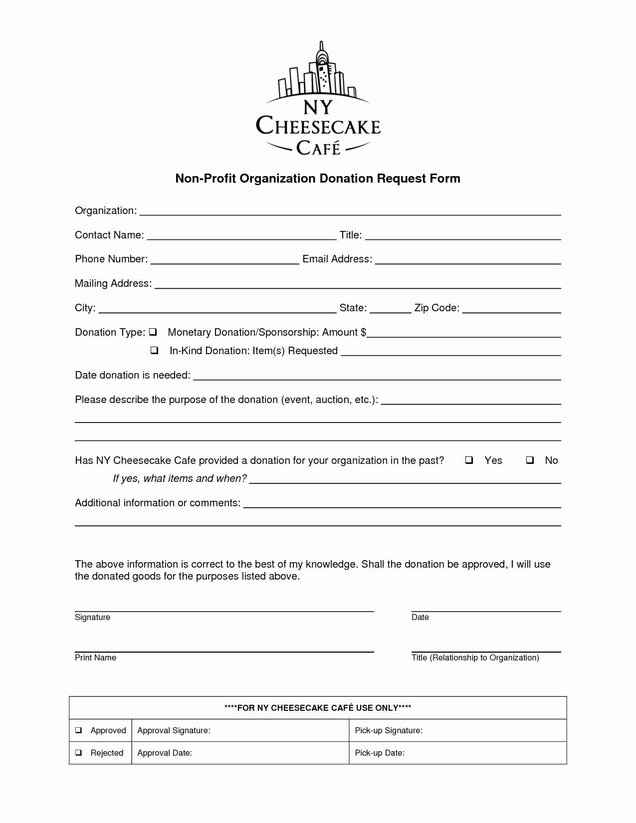 Non Profit Donation form Template Elegant Donation form Template for Non Profit Templates Resume