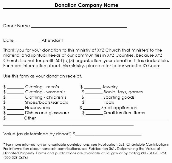 Non Profit Donation form Template Elegant Donation Receipt Template 12 Free Samples In Word and Excel