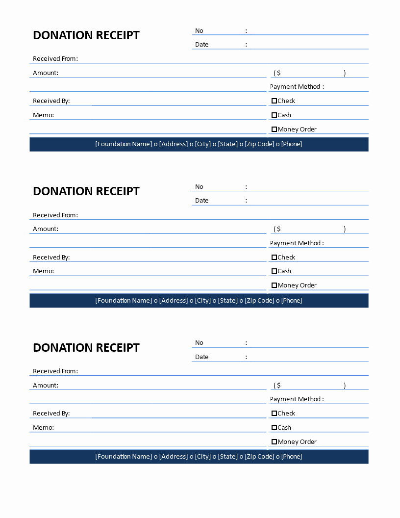 Non Profit Donation form Template Elegant Free Non Profit Donation Receipt for Cash Donation