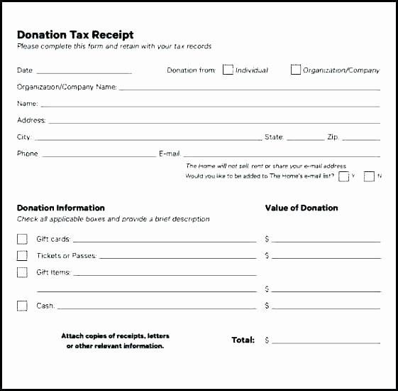 Non Profit Donation form Template Luxury Charitable Donation Receipt Template Australian