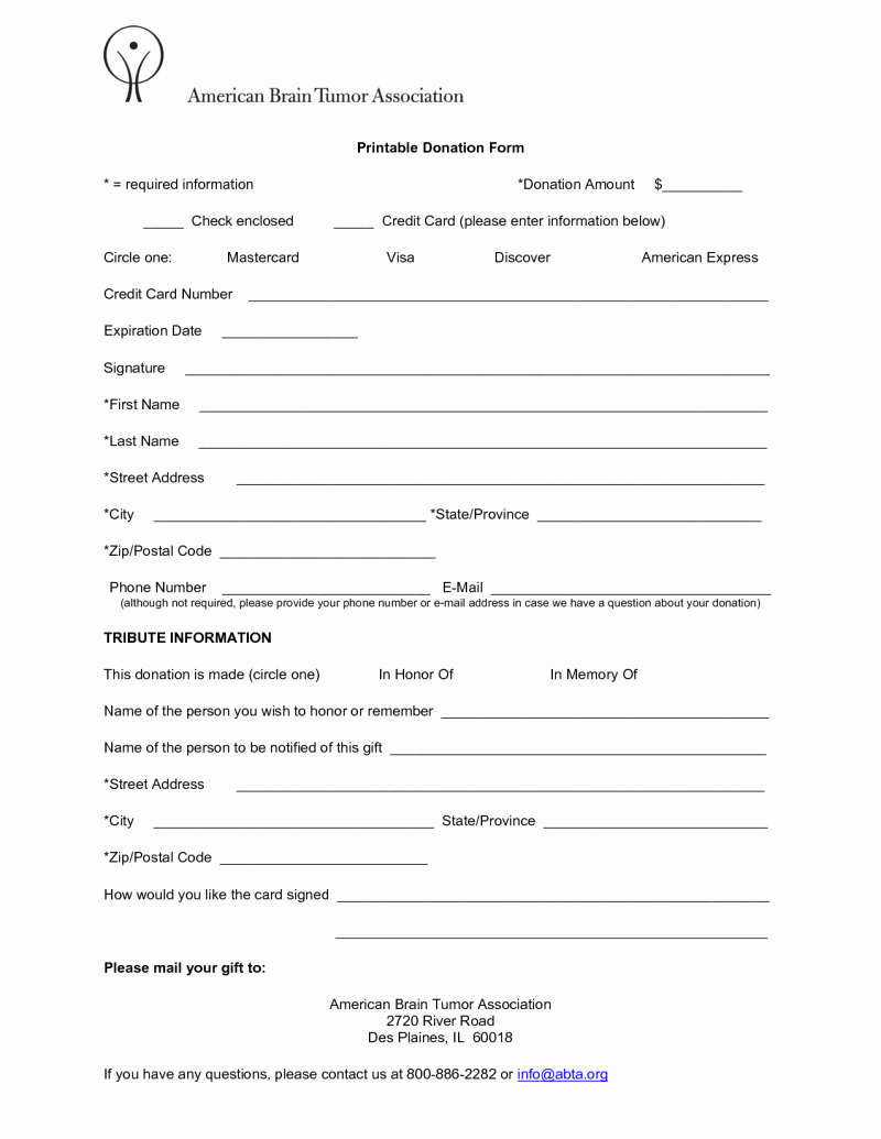 Non Profit Donation form Template Unique 6 Free Donation form Templates Excel Pdf formats