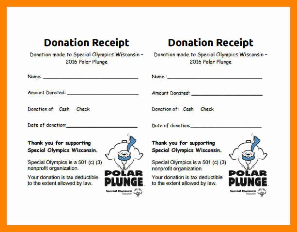 Non Profit Donation form Template Unique 9 Free Non Profit Donation Receipt Template