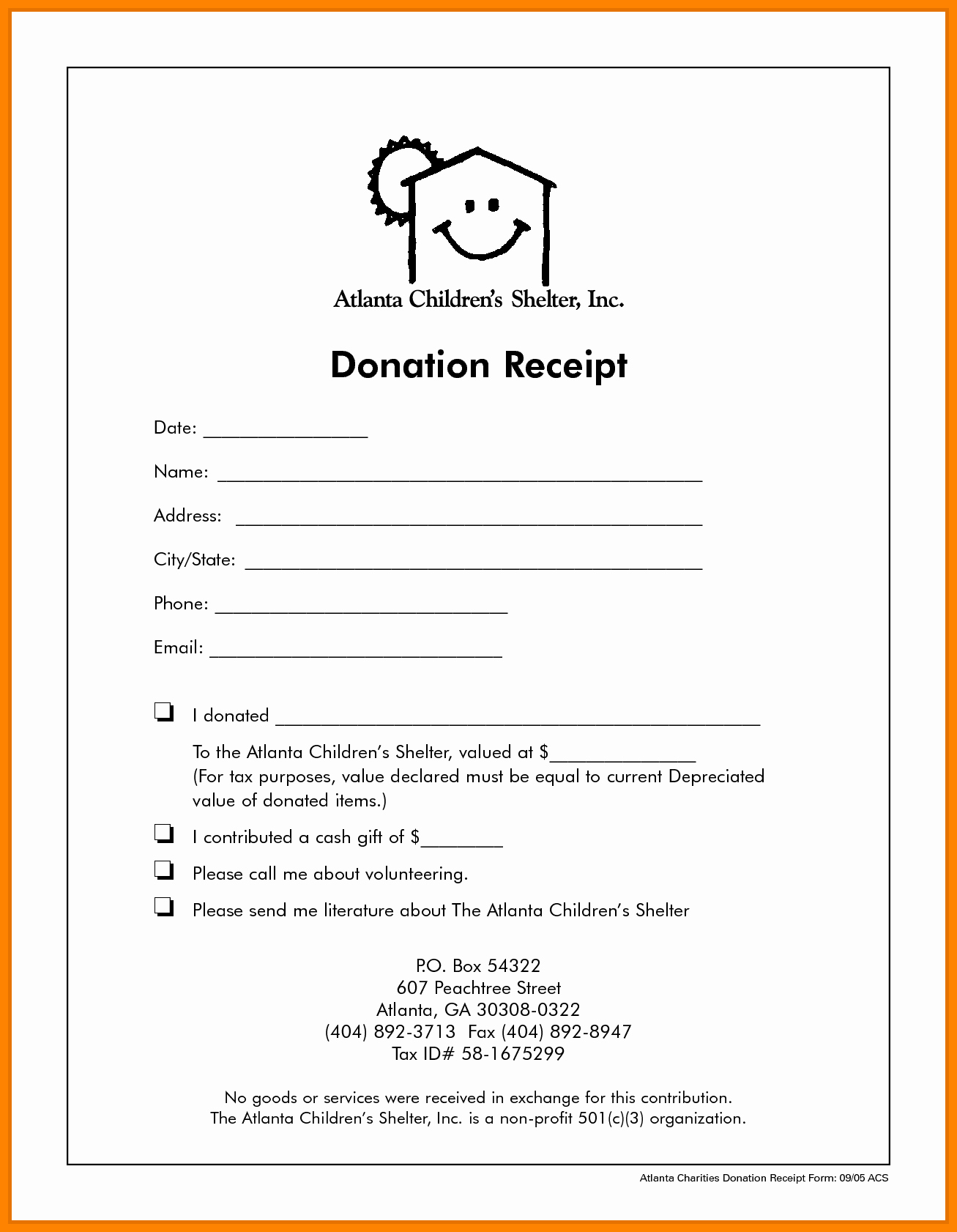 Non Profit Donation form Template Unique 9 Non Profit Donation Receipt Template