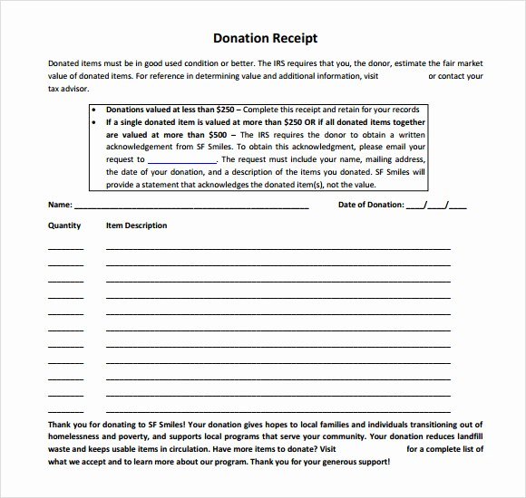 Non Profit Donation Receipt form Beautiful 10 Donation Receipt Templates – Free Samples Examples