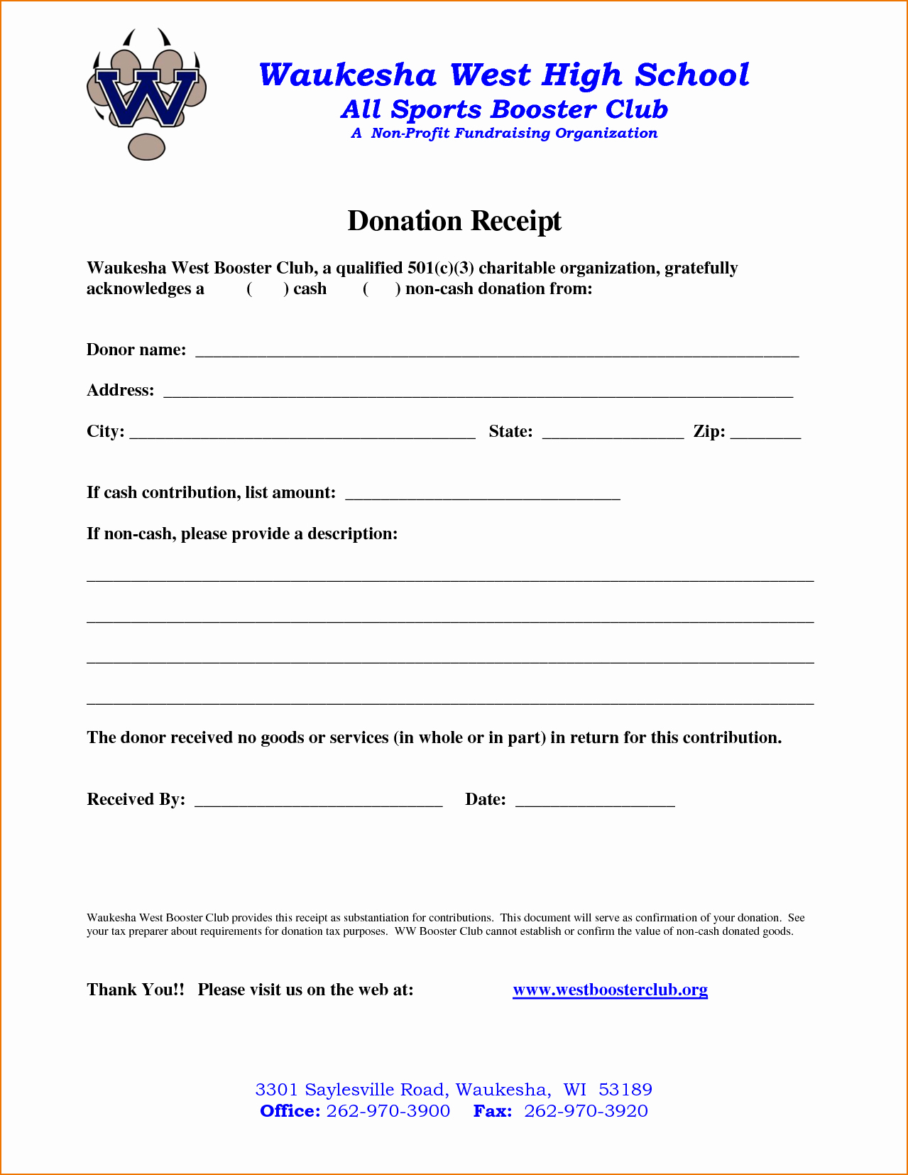 Non Profit Donation Receipt form Best Of 4 Non Profit Donation Receipt Template