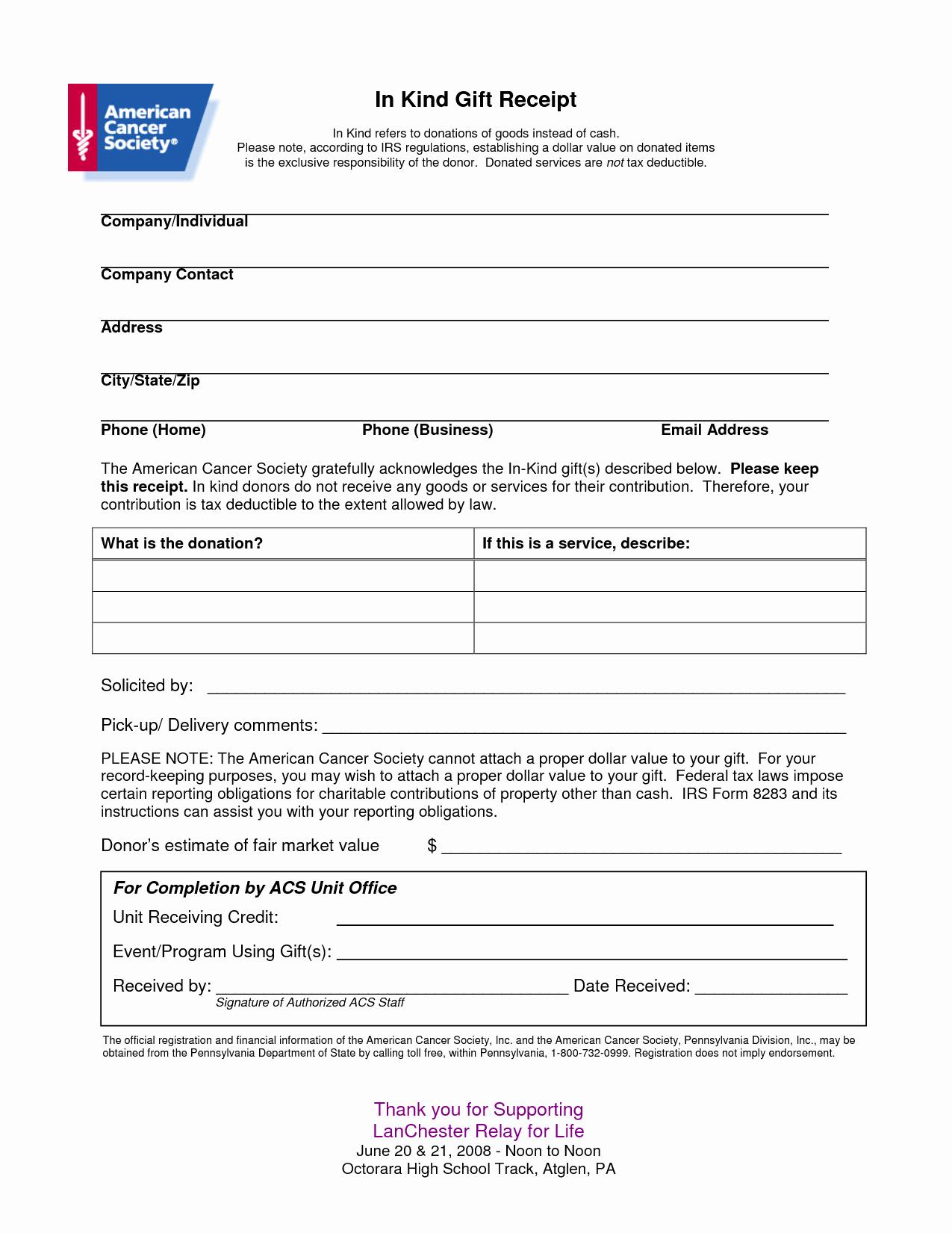 Non Profit Donation Receipt form Best Of Non Profit Receipt Of Cash Donation Letter Template