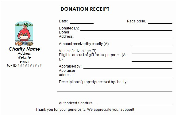Non Profit Donation Receipt form Elegant Sample Donation Receipt Template 17 Free Documents In