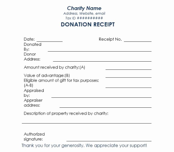 Non Profit Donation Receipt form Fresh 16 Donation Receipt Template Samples