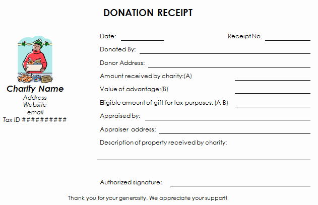 Non Profit Donation Receipt form Unique Download Nonprofit Donation Receipt Template