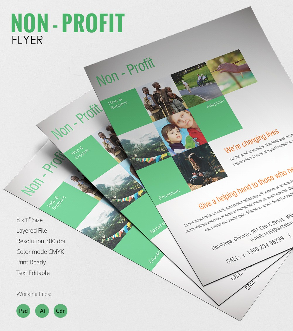 Non Profit organization Brochure Sample Awesome 135 Psd Flyer Templates – Free Psd Eps Ai Indesign