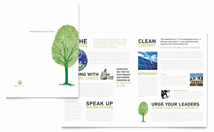 Non Profit organization Brochure Sample Beautiful Environmental Non Profit Brochure Template Design