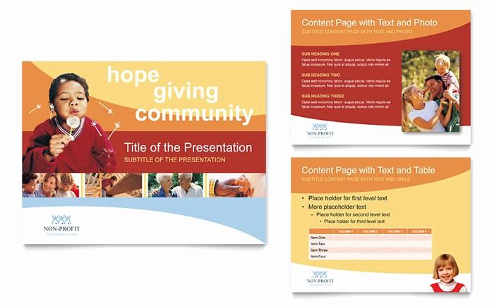 Non Profit organization Brochure Sample Best Of Munity Non Profit Powerpoint Presentation Template Design
