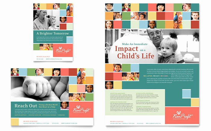 Non Profit organization Brochure Sample Elegant Non Profit association for Children Flyer & Ad Template Design