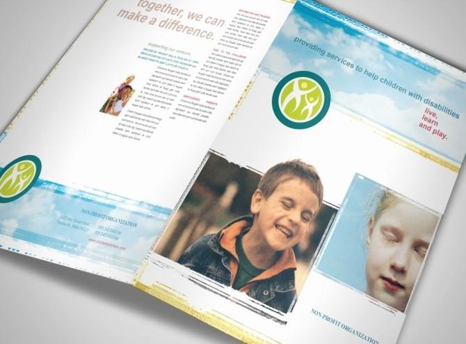 Non Profit organization Brochure Sample Fresh Disabled Children Services organization Brochure Templates