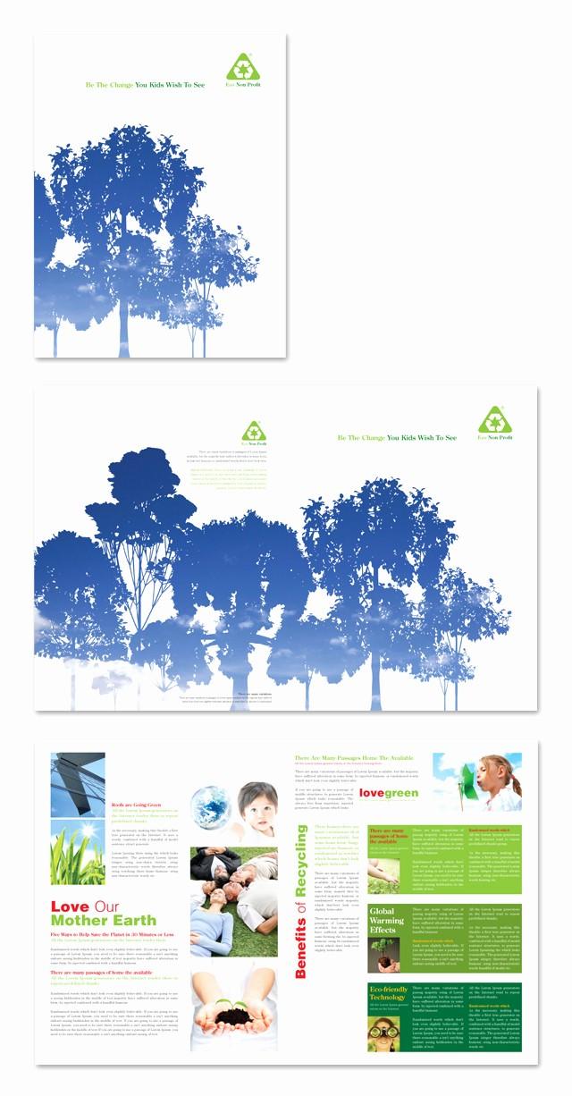 Non Profit organization Brochure Sample Fresh Environmental Non Profit Brochure Template