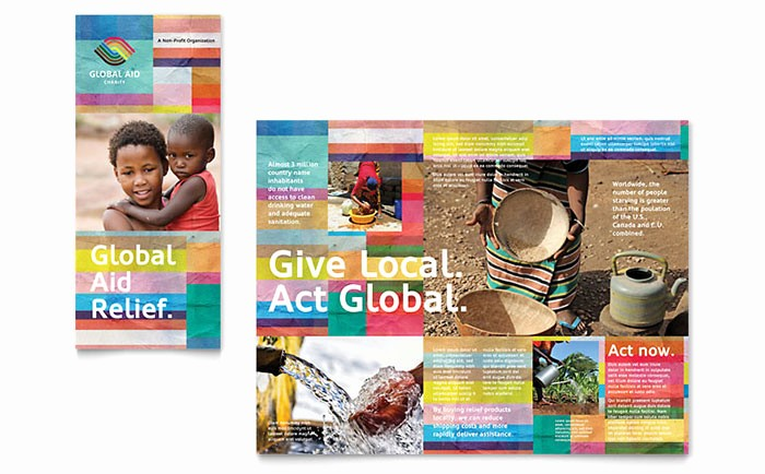 Non Profit organization Brochure Sample Inspirational Humanitarian Aid organization Brochure Template Design