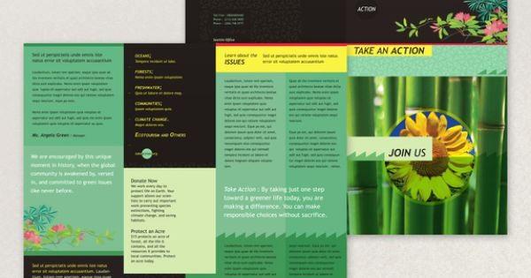 Non Profit organization Brochure Sample Luxury Bright Environmental Non Profit Brochure Template This