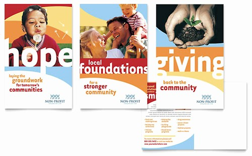 Non Profit organization Brochure Sample New Munity Non Profit Newsletter Template Design