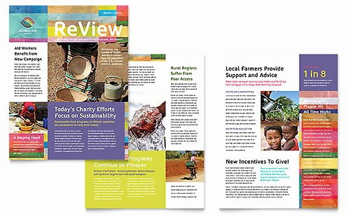 Non Profit organization Brochure Sample New Non Profit Marketing Brochures Flyers Newsletters
