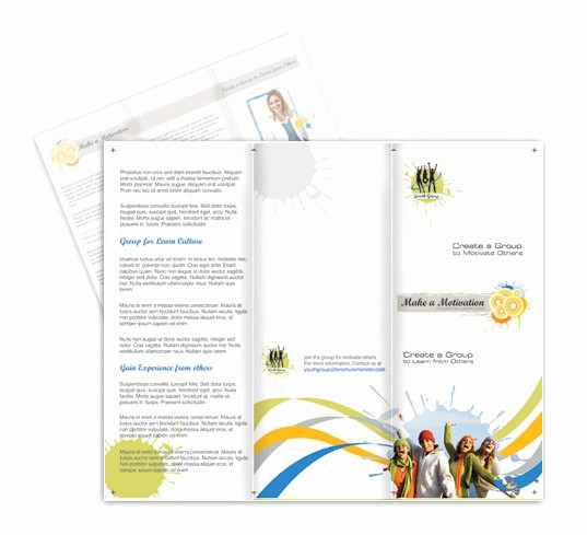 Non Profit organization Brochure Sample New Non Profit Motivational Brochures