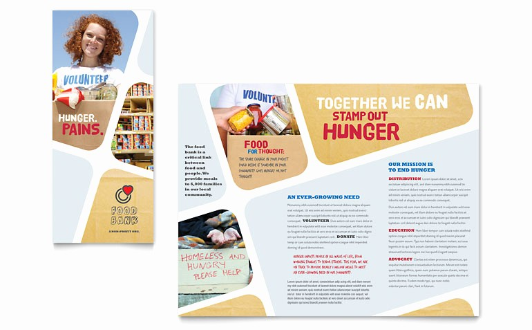 Non Profit organization Brochure Sample Unique Food Bank Volunteer Brochure Template Word & Publisher
