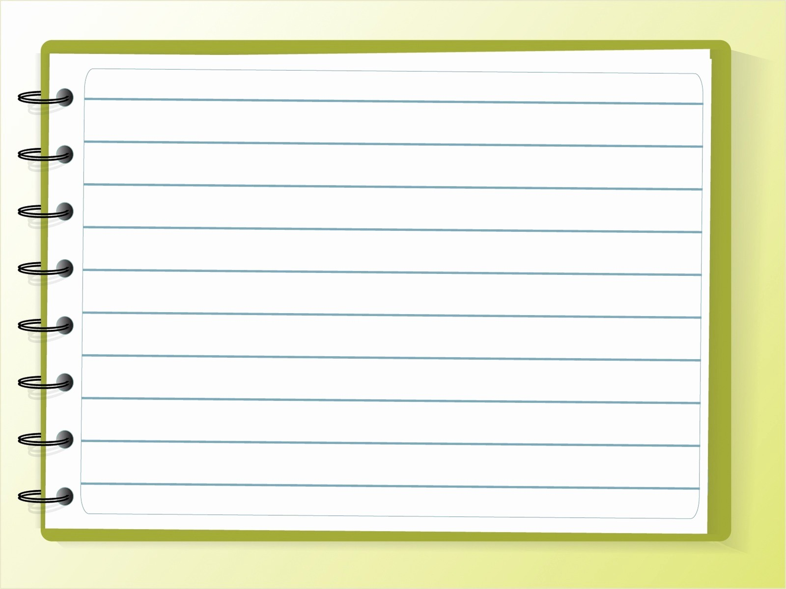 Notebook Paper Background for Powerpoint Beautiful Notebook Powerpoint Templates Education Green White