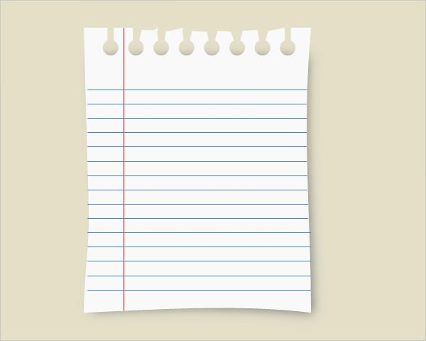 Notebook Paper Background for Powerpoint Elegant 10 Sample Notebook Paper Templates to Download for Free