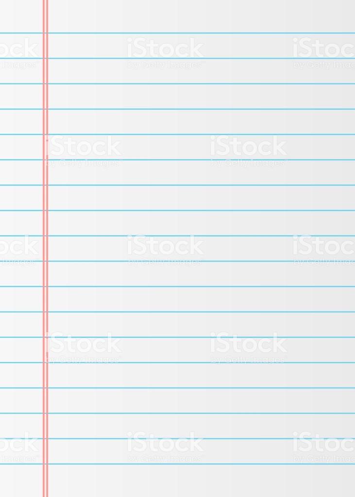 Notebook Paper Background for Powerpoint New Notizbuch Papierhintergrund Liniertes Papier Stock Vektor