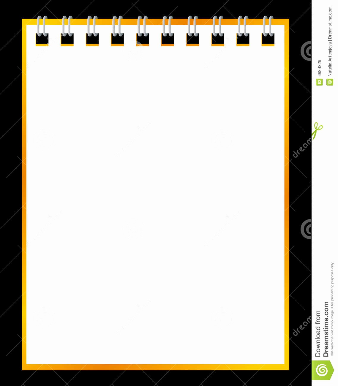 Notebook Paper Background for Powerpoint Unique Paper Notebook Black Background Stock Vector