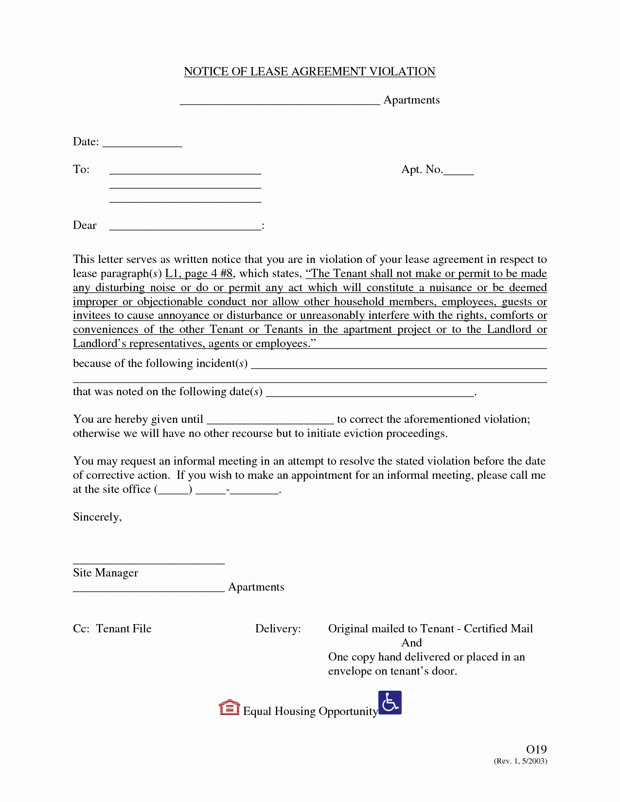 Notice Of Lease Violation Template Beautiful Best S Of Notice Violation Letter Template for