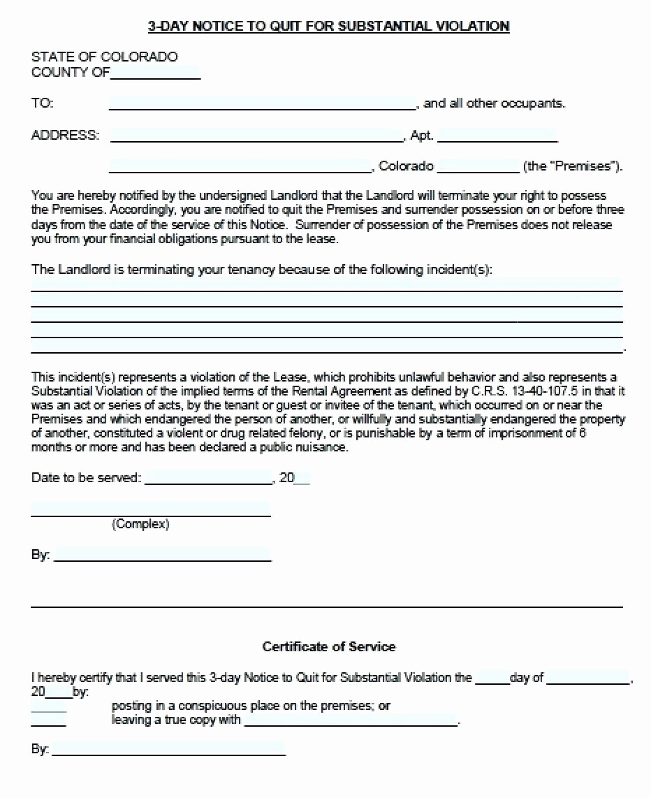 Notice Of Lease Violation Template Elegant Employee Violation Warning Notice Lease Violation Notice