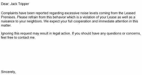 Notice Of Lease Violation Template Elegant Lease Violation Notice – Tenant Violation Notices