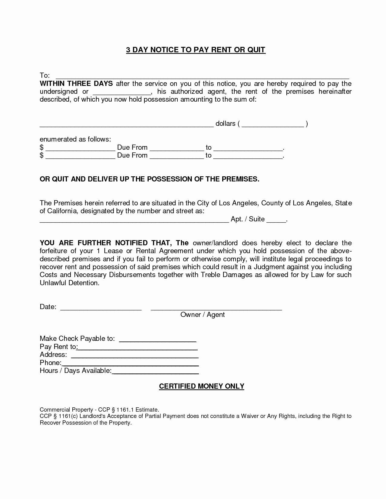 Notice to Pay or Vacate Luxury 10 Best Of 3 Day Notice by Landlord 3 Day Notice