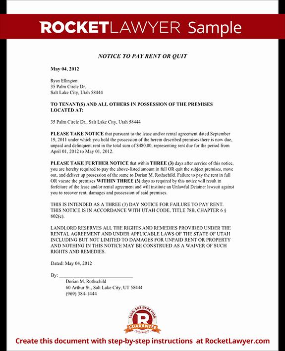 utah eviction notice rl