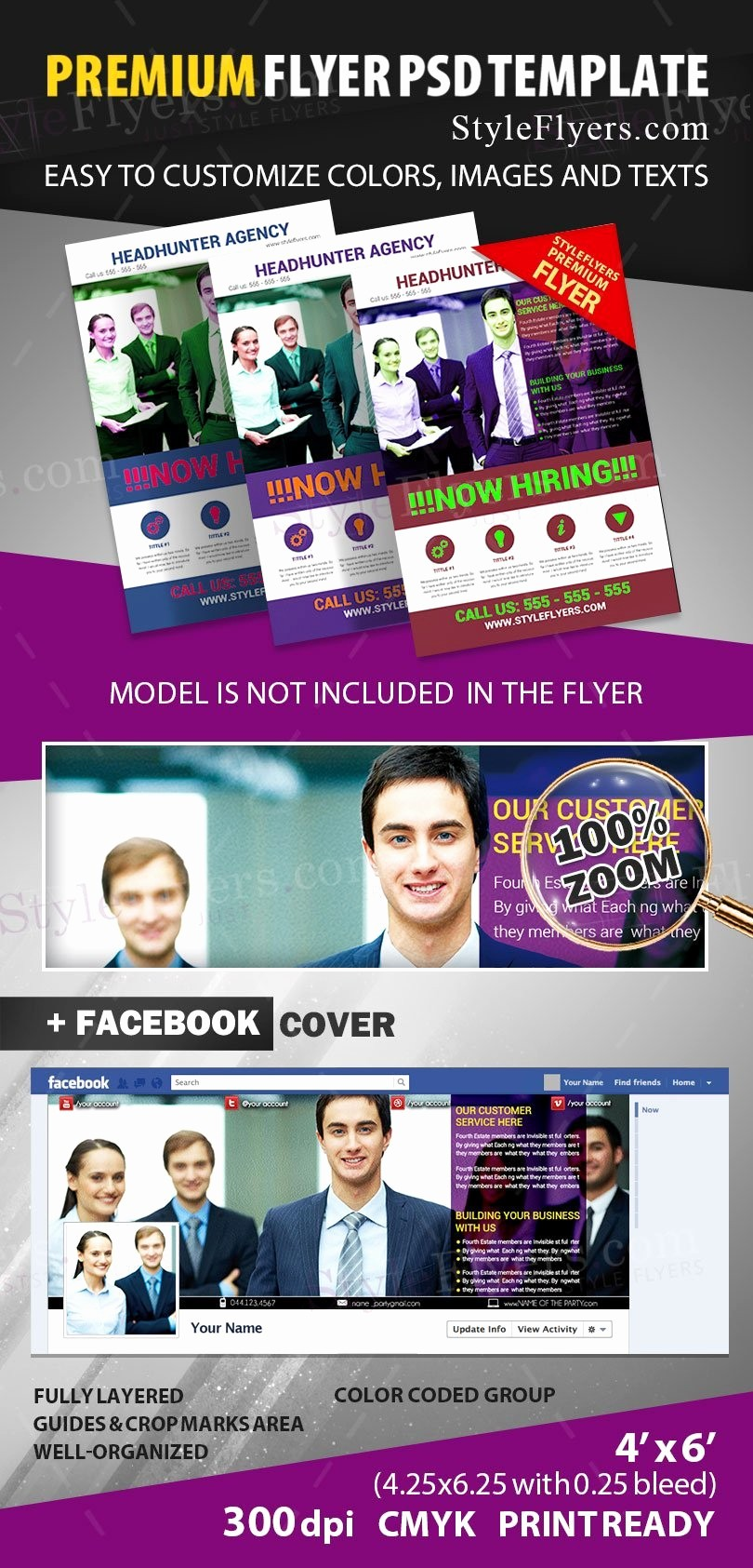 Now Hiring Flyer Template Free New now Hiring Psd Flyer Template Styleflyers